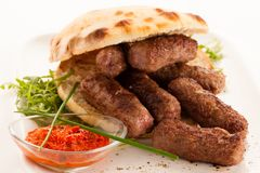 Photo of Cevapi, cevapcici, traditional Balkan food - delicius stock photo