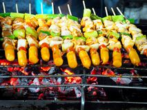 Photo of Chicken Kebabs at the Market stock image