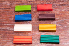 Photo children`s colored plasticine. Materials for creativity. Stock Photos