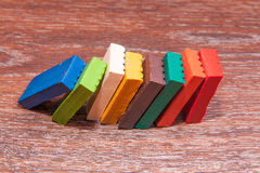 Photo children`s colored plasticine. Materials for creativity. Royalty Free Stock Image
