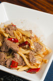 beef  and bamboo shoots Stock Image