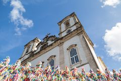 Photo of the Church of Senhor do Bonfim stock images