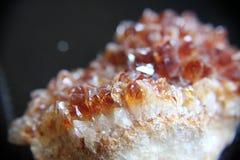 Citrine. Photo of Citrine Natural Raw stone royalty free stock photography