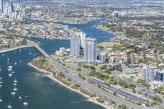 Photo of the city and bay in Surfers Paradise Royalty Free Stock Photos