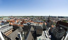 Photo of city center of Munich Royalty Free Stock Photos