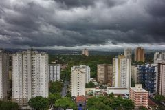 City Sao Jose dos Campos - Sao Paulo, Brazil - with cloudy sky. Photo of city Sao Jose dos Campos - Sao Paulo, Brazil - with cloudy sky Stock Images
