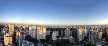City Sao Jose dos Campos, SP / Brazil, in the morning panorama photo. Photo of City Sao Jose dos Campos, SP / Brazil, in the morning panorama photo Stock Images