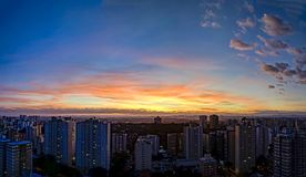 City Sao Jose dos Campos, SP / Brazil, at nightfall panorama photo. Photo of City Sao Jose dos Campos, SP / Brazil, at nightfall panorama photon Stock Photography