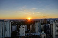 City Sao Jose dos Campos, SP / Brazil, at sunset photo. Photo of City Sao Jose dos Campos, SP / Brazil, at sunset photo Stock Photography