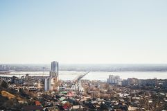 Photo of the cityscape. View from above royalty free stock photos