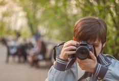 Jeune photographe Images libres de droits