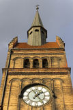 Photo of the clock tower of the Evangelical Christ' Church in Ostrava CZ Royalty Free Stock Images