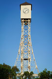 Photo of clock tower of Gustave Eiffel in the park of Monte Cris. Photo of the clock tower made by Gustave Eiffel in the main park of Monte Cristi in the stock images