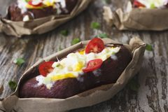 Stuffed Sweet Potato Stock Photo