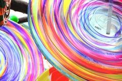 Close up candy installation photo stock photo