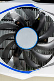 Photo close-up of the cooler on the graphics card stock image