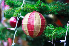 Photo of Closeup Christmas ball from Christmas tree Stock Photography