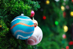 Photo of Closeup Christmas ball from Christmas tree Royalty Free Stock Image