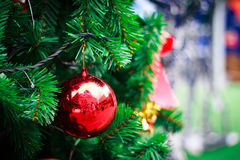 Photo of Closeup Christmas ball from Christmas tree Stock Photo