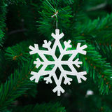 Photo of Closeup  snow on Christmas tree Stock Photography