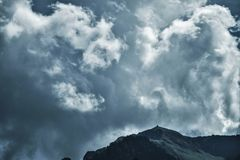 Photo of Cloudy Sky Under Mountain Royalty Free Stock Image