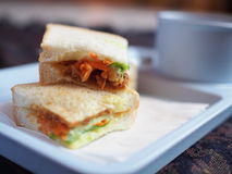Photo of a club sandwich Royalty Free Stock Photography