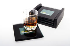 Photo coasters Stock Image