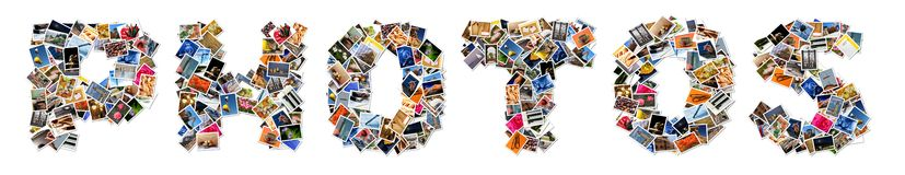 Photo collage. A photo collage spells out the word photo Vector Illustration
