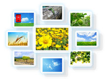 Photo collage. Collage of different landscape photos royalty free stock images