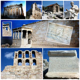 Photo collage of Athens,Acropolis in Greece Royalty Free Stock Photography