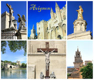 Photo collage  Avignon, France. Photo collage Avignon - city of Popes, South of France Stock Images