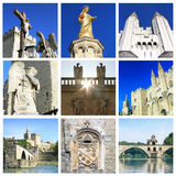 Photo collage of Avignon -  South of France. Photo collage Avignon - city of Popes, South of France Royalty Free Stock Image