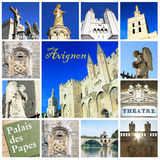 Photo collage of Avignon - South of France stock photo