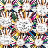 Photo collage of Back To School conceptual images Royalty Free Stock Images