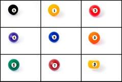 Photo collage of billiard balls Royalty Free Stock Photo
