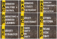 Photo collage of Business Acronyms Royalty Free Stock Photography