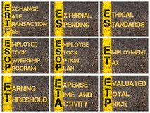 Photo collage of business acronyms Stock Image
