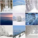 Photo collage of cold winter days Stock Photo