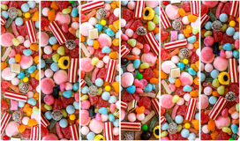 Photo collage of colorful candies Royalty Free Stock Photography