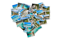 Photo collage of Corsica landscape in France Royalty Free Stock Image