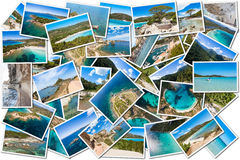 Photo collage of Corsica landscape in France Royalty Free Stock Photography