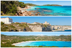 Photo collage of Corsica landscape in France Stock Photos