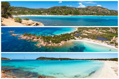 Photo collage of Corsica landscape in France Stock Images