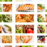 Photo Collage of dishes for restaurant food menu Stock Photos