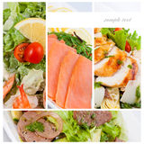 Photo Collage of dishes for restaurant menu Royalty Free Stock Images