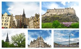 Photo collage of Edinburgh Scotland royalty free stock photography