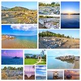 Photo collage of Eretria Euboea Greece Stock Photos