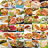 A photo collage of fish second international cuisine Stock Photos
