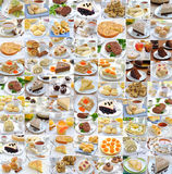 Photo collage of food. Photo-collage of food and drink stock images