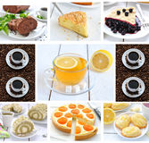 Photo-collage of food and drink stock image